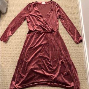 EUC A New Day burgundy velvet dress, sz s